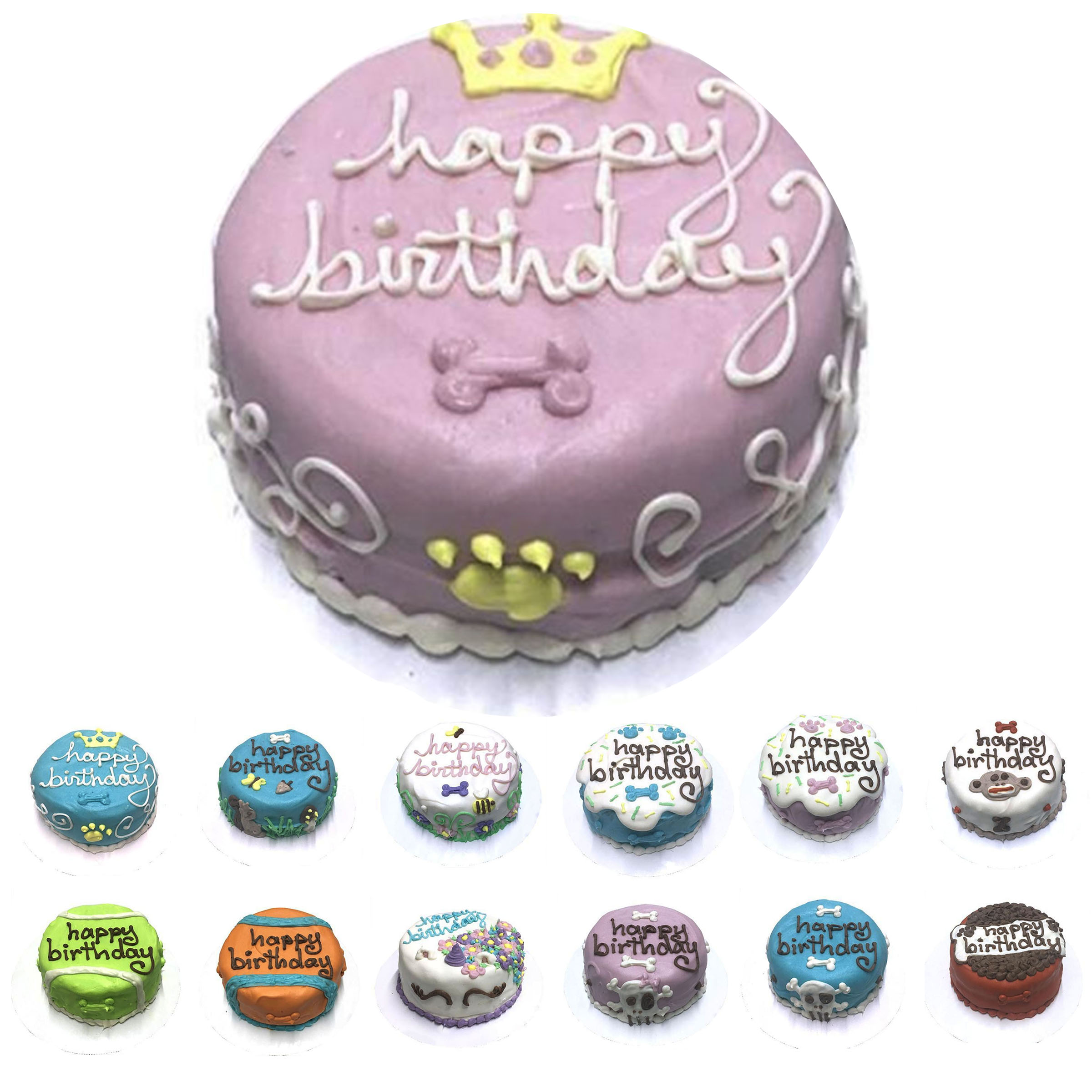 Specialty Personalized Dog Birthday Cake Bubba Rose